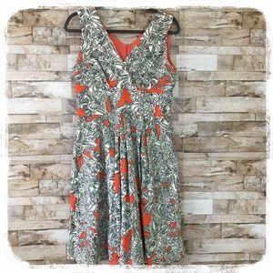 Rabbit Rabbit Rabbit White/Black/Orange Dress 10